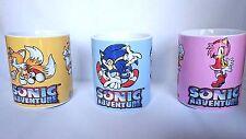 Sonic Adventure Dreamcast Conjunto de 3-Taza de Café Taza-SEGA-Dreamcast-Regalo