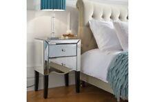Birlea Palermo Mirrored 2 Drawer Mirror Bedside Table/Cabinet