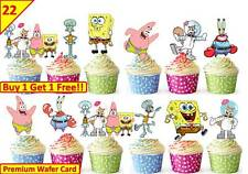 44 SpongeBob SquarePants Cup Cake Toppers Edible Decorations Birthday Stand up