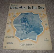1937 THERE'S A GOLD MINE IN THE SKY Bing Crosby Irving Berlin Sheet Music
