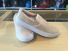 croc design canvas trainers in nude sizes 3 to 8