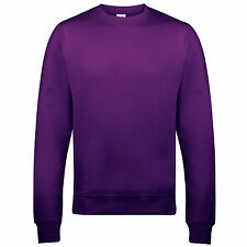 Unisex Adult Men Women Plain Cotton Rich AWDis Sweatshirt