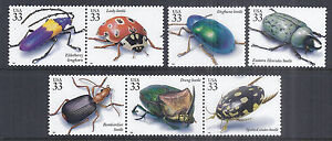 1999 US Insects / Beetles SC 3351b-o Set of 7 Different - MNH PO Fresh