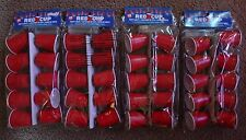 4 Packs Red Solo Cups Ten String Lights New White Trash Redneck Tailgate party