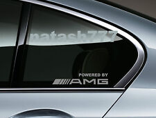 Powered by AMG Mercedes Benz Sport Racing Window Decal sticker emblem SILVER