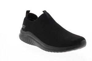 Skechers Ultra Flex 2.0 Kwasi 232047 Mens Black Canvas Athletic Walking Shoes