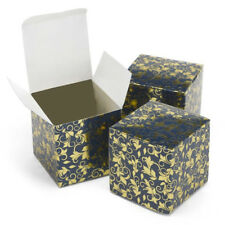 New Hbh Navy & Gold Flourish Favor Boxes 25 pc.