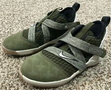 Nike Lebron Soldier XII (PS) Basketball Kids Shoes Sz 12c  Olive/Gum  AA1353-300