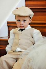 Custom Made Kid's Beige Wedding Groom Tuxedos Flower Boys Children Party Suits