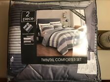 Twin/TXL Comforter Set, 2 Piece With Reversible Sham, New Sealed Package