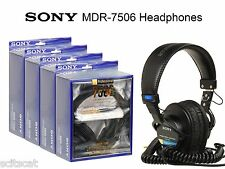 New Sony MDR-7506 Professional Studio Live DJ Full Size Headphones Free Priority