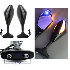 Honda CBR 600 F4i 929 954 RR F1 F2 Hurricane LED Integrated Turn Signal Mirrors
