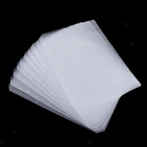 10 PVC Transparent File Binder Pocket A5 for 6 Hole Loose Leaf Binder Single