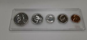 1960 United States Mint 5 Coin Proof Set in Whitman Holder 90% Silver (B)