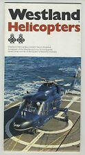 (102) Brochure WESTLAND HELICOPTERS