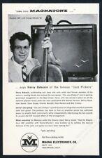 1958 Magnatone Custom 280 stereo vibrato amp Harry Babasin photo vintage ad