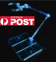 Action Base Suitable Display Stand Blue for 1/144 MG/HG/RG Gundam/Figure Clear