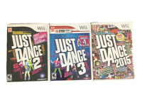 Nintendo Wii Just Dance Lot 2,3 And 2015 All Tested And Working