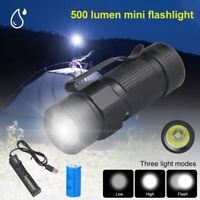 Mini Outdoor L2 LED Clip EDC Flashlight Portable Hiking Tiny 3Modes Torch Lamp