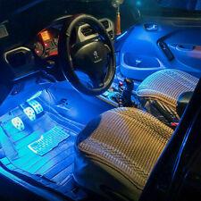 4 Pz 12 LED per interni per auto Lampada per atmosfera interna con luci USB
