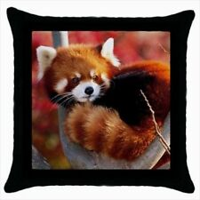 Red Panda Throw Pillow Case