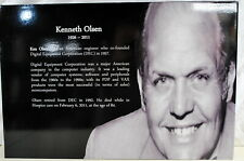 """20""""X30"""" Computer Museum Graphic  Panel of Kenneth Olson Ships Worldwide"""