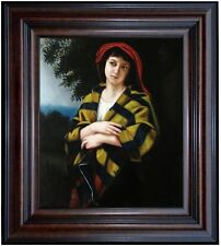 Framed Hand Painted Oil Painting, Repro Bouguereau Pendant l'Orage, 20x24in