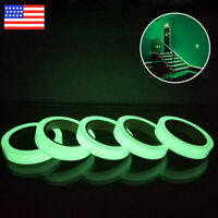 2PC Luminous Tape Self Adhesive Glow In The Dark Wall Sticker Fluorescent Light