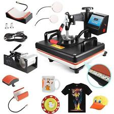 5 In 1 Digital Heat Press Swing Away Machine for T-Shirt/Mug/Plate Printer 15x12