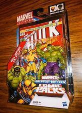 Marvel Universe WOLVERINE vs. THE HULK! Greatest Battles Comic Packs! Hasbro