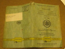 1961 Telephone Directory for GALAX Tennessee! Inter-Mountain Telephone Co!!!!
