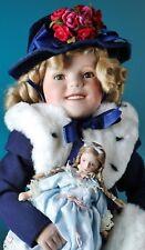 "Shirley Temple ""The Little Princess"" porcelain doll by Danbury Mint 19"""