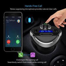 Coche Transmisor FM Bluetooth 2.1 Manos libres Reproductor De MP3 Cargador USB