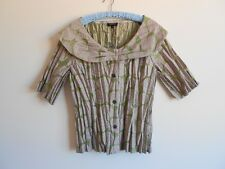Kamiko Womens Grey & Leaf Green Top Jacket Wedding Size 18