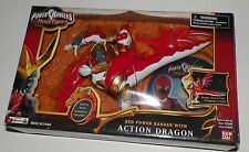 2006 Power Rangers Red Ranger  Mystic Force Action Dragon & DVD NIB