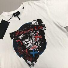 The Kooples Murphys Law Graphic Tee T-Shirt Mens NWT Size XL Skull Shirt White