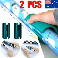 AU 2X Sliding Wrapping Paper Rolls Cutter Craft Gift Packing Cut Cutting Tools