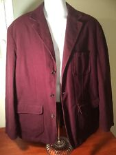 Men's Lands End Burgandy Sport Blazer Jacket Size XL
