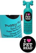 PET HEAD Dog Shampoo ~ Puppy Fun!! ~ Tearless ~ Yummy Orange Fragrance ~ 475ml