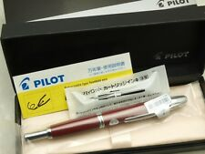 Pilot Capless / VANISHING POINT Deep Red Fine-steel nib With Converter CON-40
