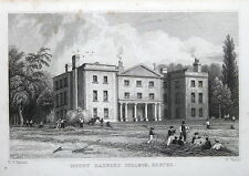 Monte Radford College, Exeter, Devon Originale Antico Stampa c1830