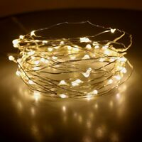 20/50/100 LED String Battery Operated Copper Silver Wire Fairy Lights Xmas Party