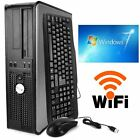 FAST Dell Desktop Computer PC Core 2 Duo 2.0GHZ 4GB 160GB Windows 7 PRO+WIFI