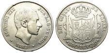 ALFONSO XII. 50 CENTAVOS DE PESO. 1882. MANILA.