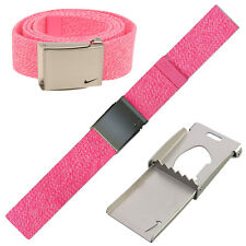 2017 Nike Golf Mens Heathered Single Webbing Belt POW Pink - RRP£30 - FREE POST