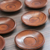 Wooden Small Plates Food Snack Dish Seasoning Sauce Food Dipping Dishes Plate 6L