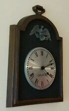 SETH THOMAS Wall hanging clock with metal eagle design