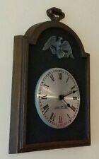 SETH THOMAS Wall hanging clock with metal eagle design