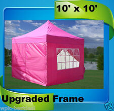 10'x10' Pop Up Canopy Party Tent EZ - Pink - F Model Upgraded Frame