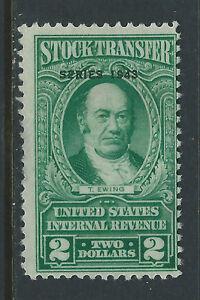 Bigjake: RD151, $2.00 Stock Transfer, Series 1943, N0 Gum